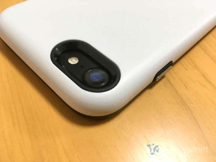 Golf Light装着したiPhoneカメラ部分