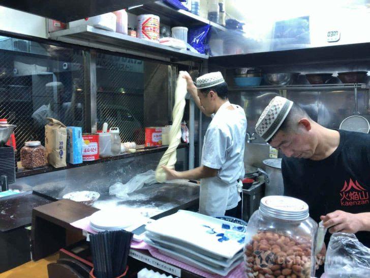 職人がつくる蘭州ラーメンの麺