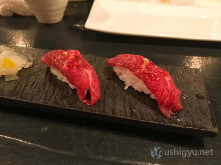 ローストホース:三角バラの寿司