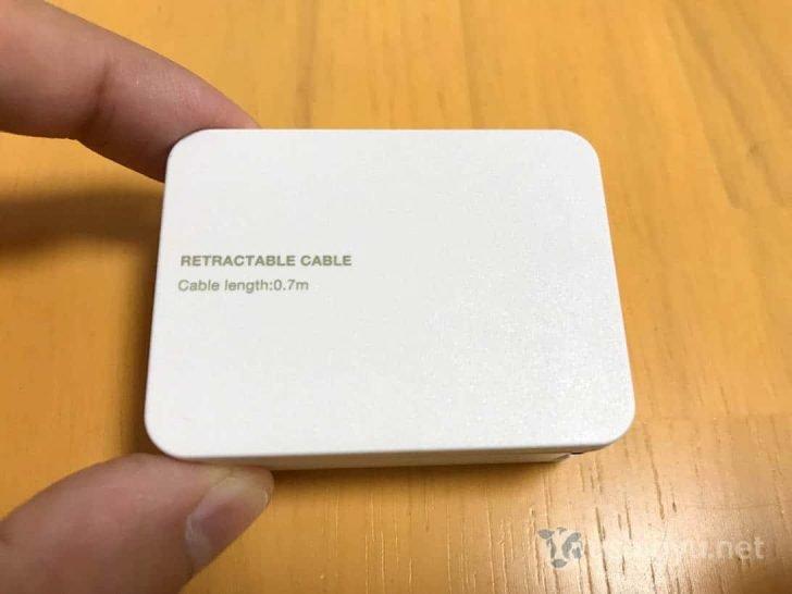 USB Type-C巻取り式ケーブル:ケーブル収納時