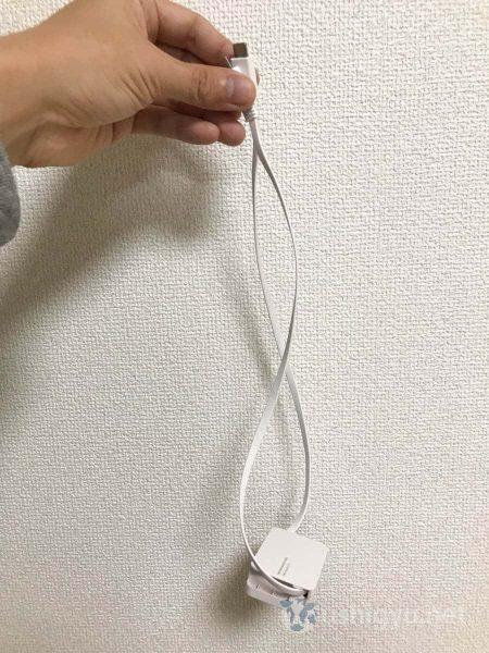 USB Type-C巻取り式ケーブル:最大長0.7m