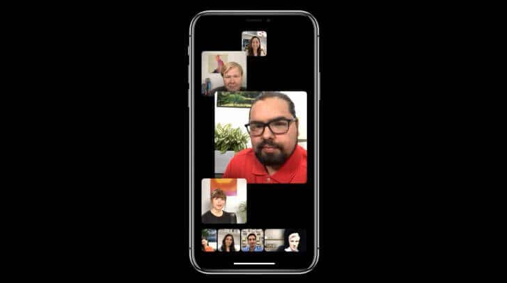 iOS 12:最大32人のGroup Facetime