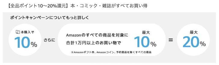 Amazonプライムデー:本・コミック・雑誌購入で10%ポイント