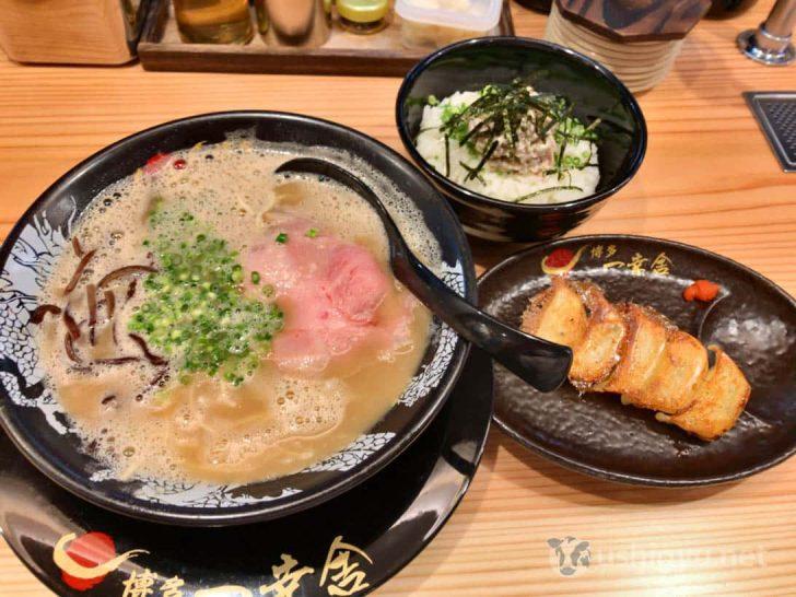 博多一幸舎総本店:チャーマヨ丼と一口餃子、ラーメンのセット