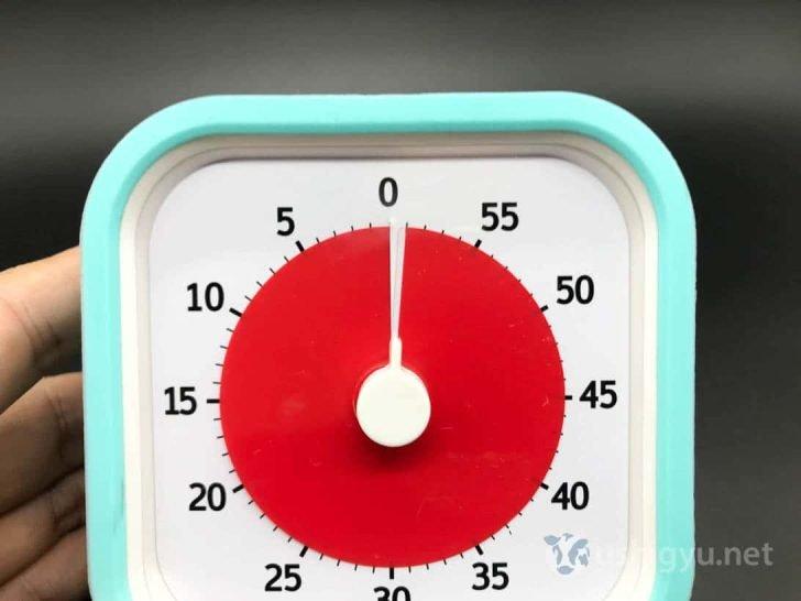 タイムタイマーは厳密に時間を測るには適さない