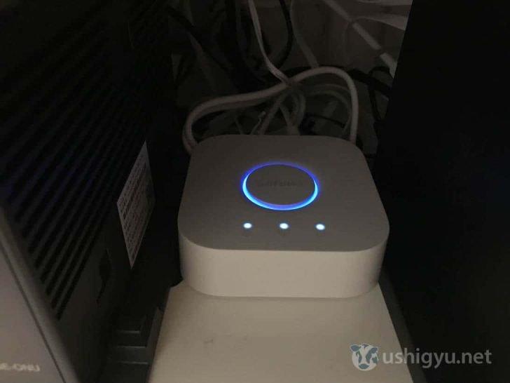 Hueブリッジを電源と有線LANに接続