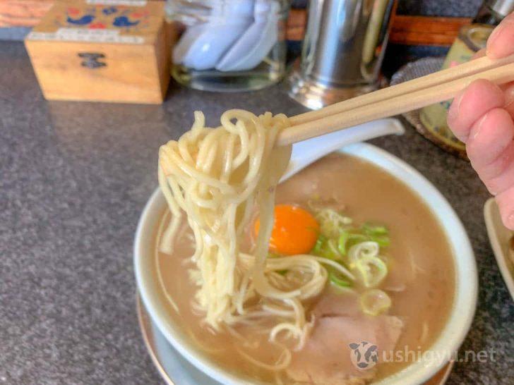いちげんの麺は中細麺