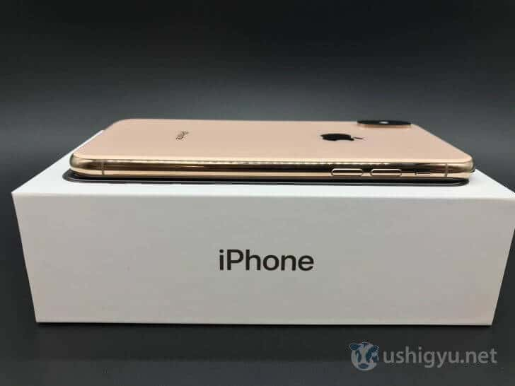 iPhone XS左側面