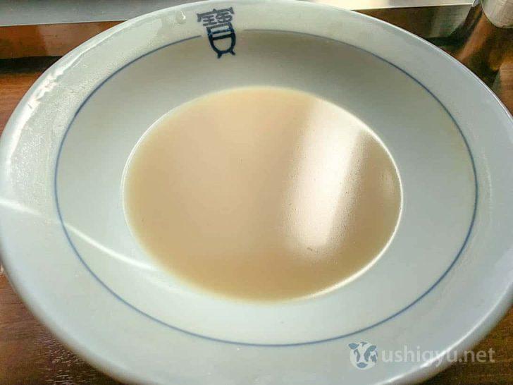 ちゃんぽんの滑らかスープ