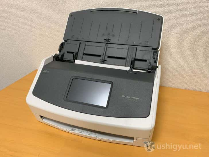 ScanSnap iX1500のカバーを開けたところ