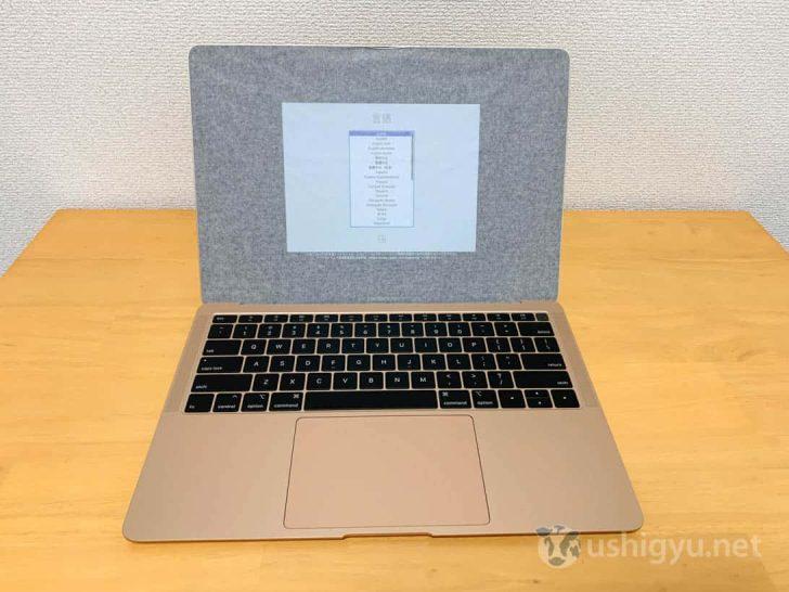 MacBook Airを広げてみる