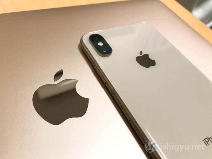 iPhone XSとMacBook Airの