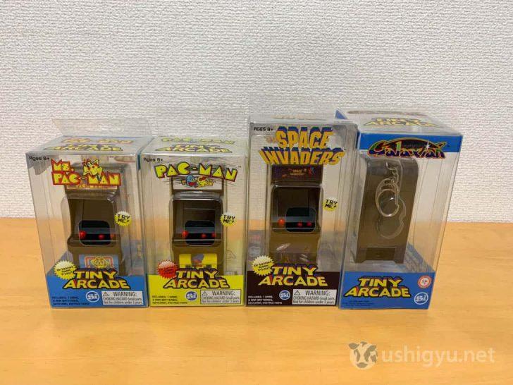 Tiny Arcade第一弾はパックマン、ミズ・パックマン、スペースインベーダー、ギャラクシアン