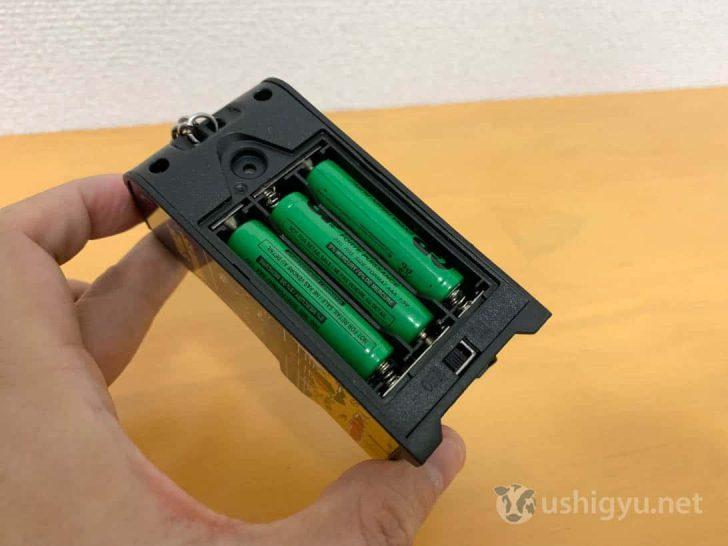 Tiny Arcadeは単4電池3本で動く