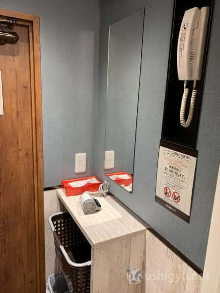シャワーブース内の設備