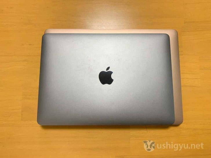 MacBookとAirの幅と奥行きを比較