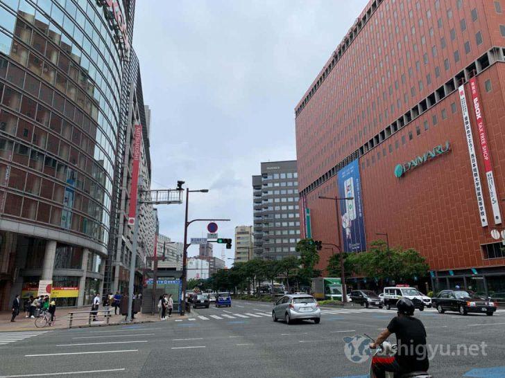 iPhone XSで渡辺通りを撮影