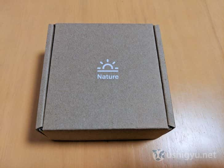 製造・販売元であるNature社の日の出ロゴ