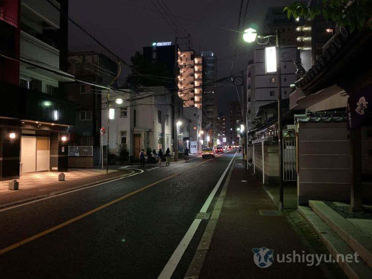 iPhone 11通常撮影(夜の路上)