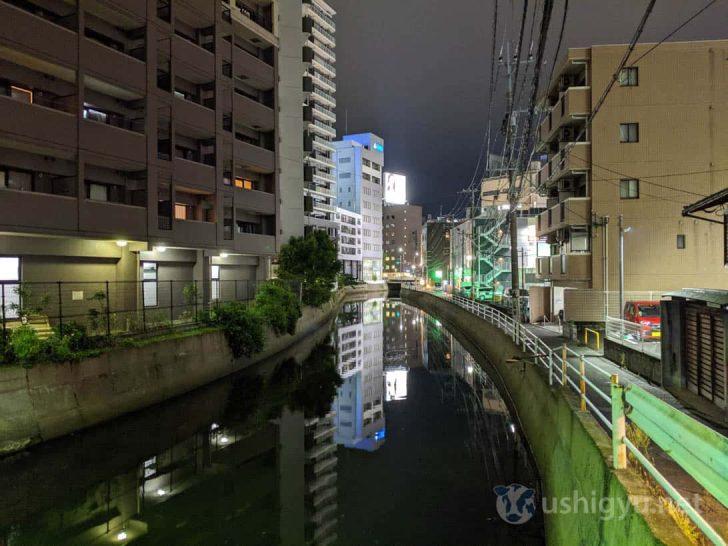 Pixel 3a夜景モード(橋の上から)