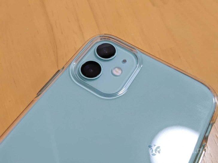 iPhone 11カメラ部分の突起にもジャストフィット
