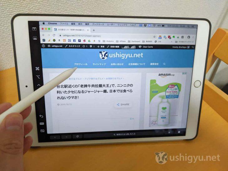 Apple Pencilを使えば、ポイントやクリック、選択、描画といった操作が可能