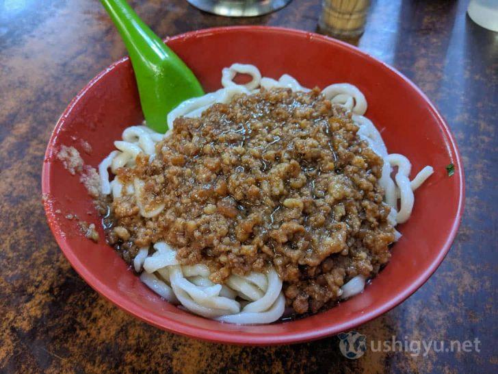 老牌牛肉拉麺大王のジャージャー麺(炸醤麺)