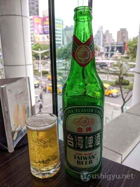 台湾ビール(台灣啤酒)でカンパイ
