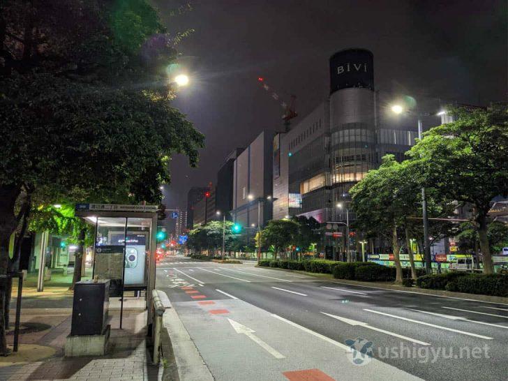夜の市街地_Pixel 4 夜景モード