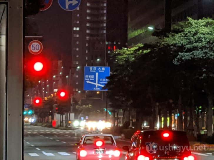 夜の市街地_Pixel 4 夜景モード ズーム8倍