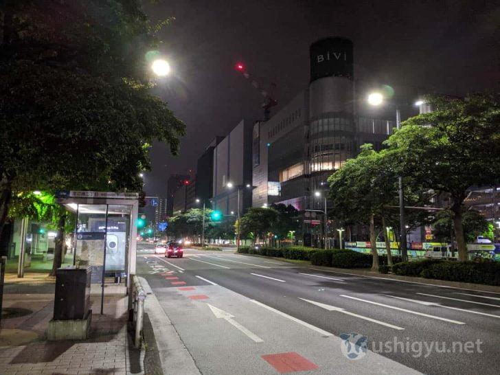 夜の市街地_Pixel 3a