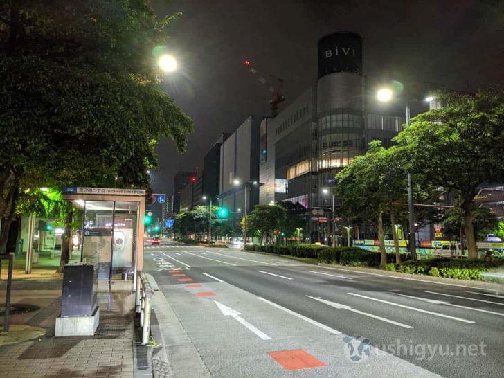 夜の市街地_Pixel 3a 夜景モード
