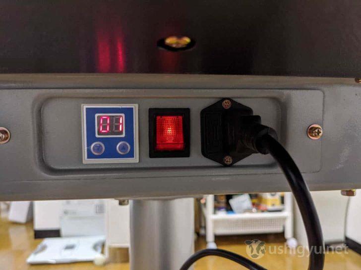電源コードをコンセントに接続し、スイッチをオンにすれば準備完了