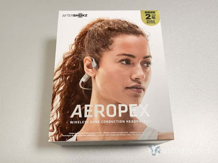 AfterShokz Aeropexのパッケージ