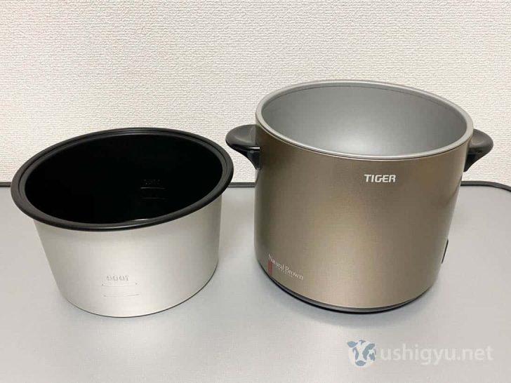 炊飯器などのように、内鍋を取り外して洗えるのがとても便利