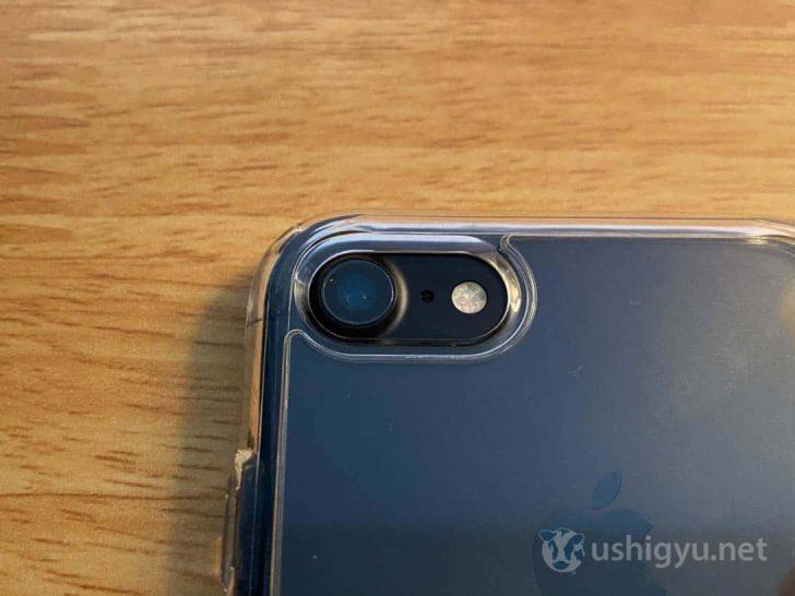SpigenのiPhone SE用ケースを7に装着してみましたが、こちらもピッタリ