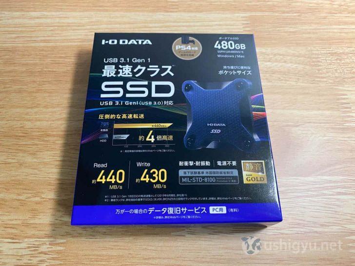 I-O DATAのUSB3.1対応SSD、480GBモデル