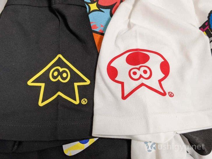 キノコ、スターのフェスTそれぞれのウデに描かれているキャラクターを並べてみた