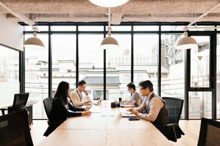 2階は、おもに集中して仕事をしたい人向けのスペース