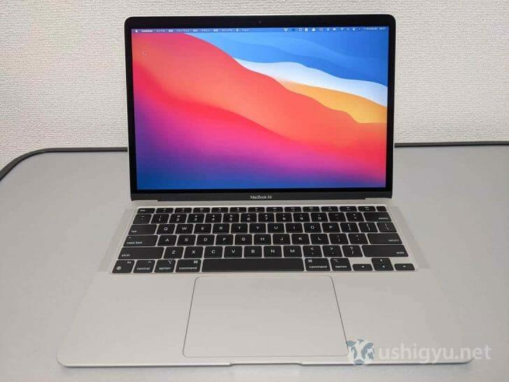今回の新しいMacBook Air。一見するとほとんど違いはわからない