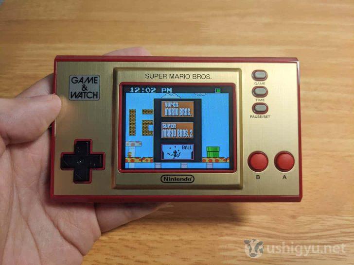 「GAME」ボタンで、内蔵された3種類のゲームへアクセスできます