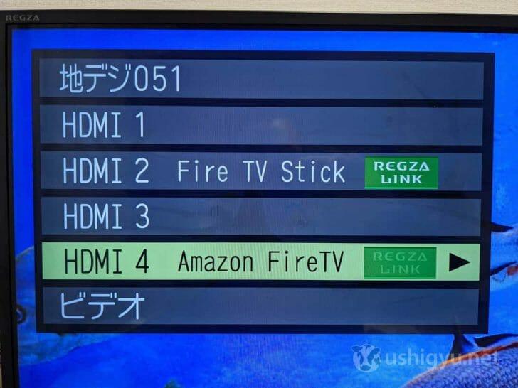 私の持っているテレビ(東芝レグザ)ではFire TV Stick 第2世代は「Fire TV Stick」、Fire TV Stick 4Kは「Amazon FireTV」と表示されていた