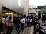 iPhone 6発売日のApple Store福岡天神の様子。大行列のタイムラプス動画も撮ったよ