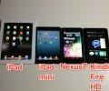 Kindle Fire HD,iPad mini,Nexus7をスペックと写真で比較。結局どれ買えばいいの?